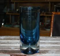 Vas - Glas - Underfång - Cylinder - Blå