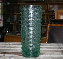 Vas - Glas - Cylinderformad - Vattengrön