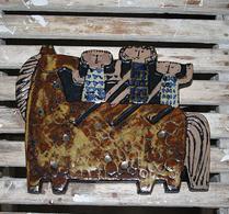 Gustavsberg - Keramik - Lisa Larson - Ryttare - Väggplatta