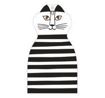 Lisa Larsons- Skärbräda - Katten Trull - Svart
