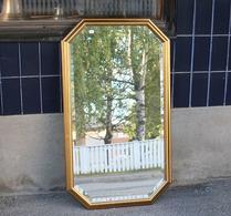 Spegel - Fasettslipad - Guldram