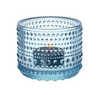 Iittala - Glas - Kastehelmi - Ljuslykta - Ljusblå