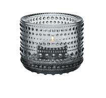 Iittala - Glas - Kastehelmi - Ljuslykta grå