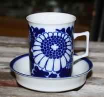 Porsgrund - Porslin - Kaffekopp - Blå blomma