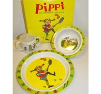 Barnservis - Pippi - melaminservis i tre delar