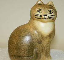Keramikstudion - Lisa Larson - Katt - Måns - Mini - Brun