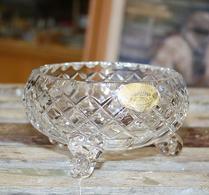 Böhmisk - Kristall - Glas - Skål - Rutslipad