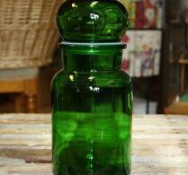 Retro - Förvaring - Glas - Grönt Glas - Stor