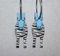K-form - Örhänge - Zebra