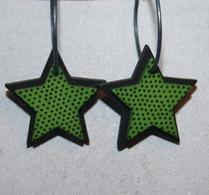 K-form - Örhänge - Stjärna - Grön