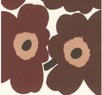 Marimekko - Pappersservett - Unikko brun