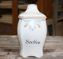 Gefle - Porslin - Speceriburk - Socker - Brun