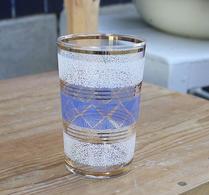 Glas - Saftglas - Selterglas - Blårutigt