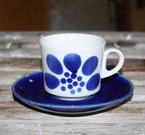Arabia - Porslin - Kaffekopp - Blå dekor