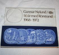 Rörstrand - Porslin - Miniatyrtallrik - 50 år med Rörstrand