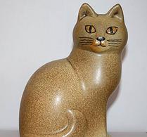 Keramikstudion - Lisa Larson - Katt - Murre - Brun midi
