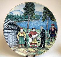Arabia - Keramik - Konstnärstallrik - 1984