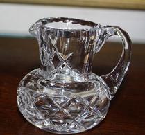 Glas - Kristall - Rutslipat - Gräddkanna