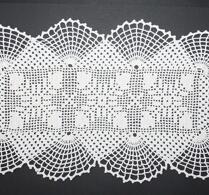 Textil - Virkat - Duk - Rektangulär