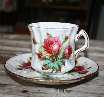 Hammersley - Grandmothers Rose - Kaffekopp - Rosor