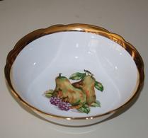 Bohemia - Porslin - Skål - Fruktdekor