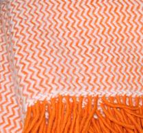 Klippan - Ullpläd - Tango - Orange