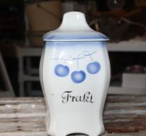 Gefle - Porslin - Speceriburk - Frukt - Blå