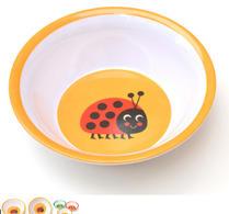Barntallrik  - Djup - Ingela P Arrhenius - Melamin - Ladybug - Nyckelpiga