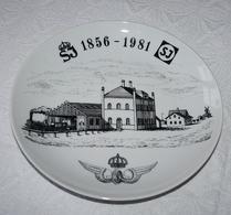 Äsperöd Design - Porslin - Tallrik - Statens Järnvägar 125 år